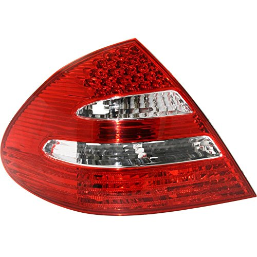 (Tail Light for Mercedes Benz E-Class 03-06 Lens and Housing W/Appearance Pkg. Sedan Left Side)