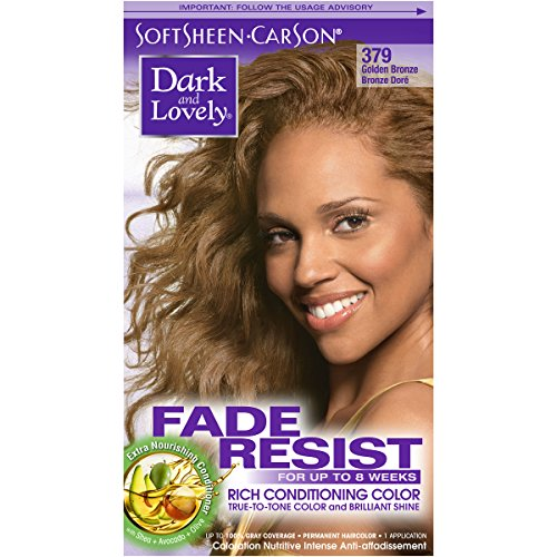 SoftSheen-Carson Dark and Lovely Fade Resist Rich Conditioning Color, Golden Bronze 379 ()