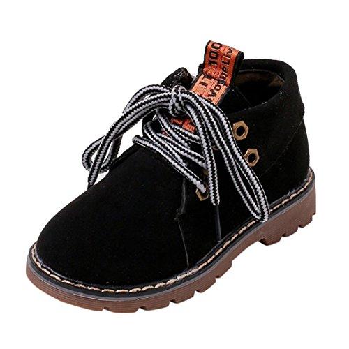 Price comparison product image Oksale Baby Boys Girls Retro Fashion Martin Sneaker Boots Zipper Close Boots (5-5.5T,  Black)