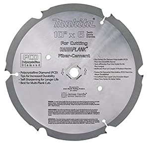 Makita A-90451 7-1/4-Inch 28 Tooth PCD General Purpose Fiber Cement Cutting Saw Blade with 5/8-Inch and Diamond Knockout Arbor