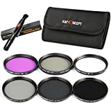 K&F Concept 40.5mm Polarizing Filter + UV Filter + ND Filter Neutral Density Filter + FLD Filter Lens Filter Kit For Sony 16-50 3N Nikon V1 V2 10-30