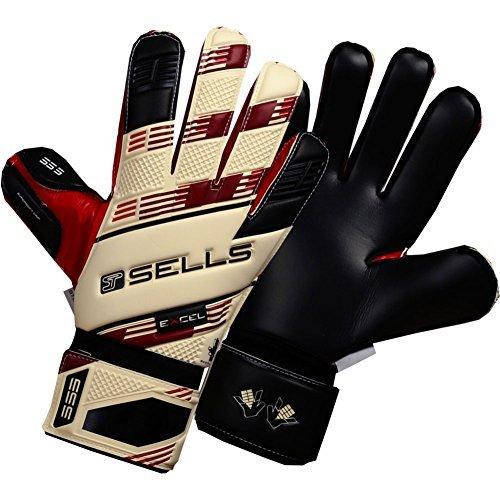 SELLS V.V. EXCEL 3 Goalkeeper Gloves Size 10 Sells Goalkeeper