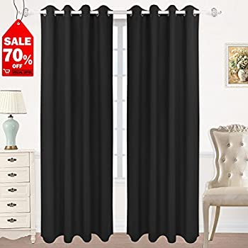 Amazon Com Blackout Curtains 52 W X 84 L Inch Set Of 2
