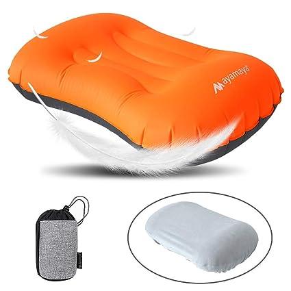 Almohada de camping inflable - AYAMAYA almohada de viaje con ...