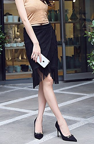 Temperament Pointed All Elegant Suede Buckle Heeled Work Shoes Single MDRW Spring Leisure Shoes Fine 34 With 9Cm High Lady Black Shoes Match Sexy qTxwAxO8