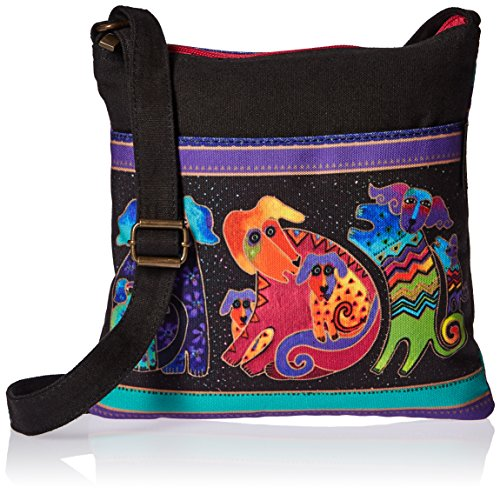 Laurel Burch Artistic Totes Crossbody, 10 by 10-Inch, Dogs and Doggies