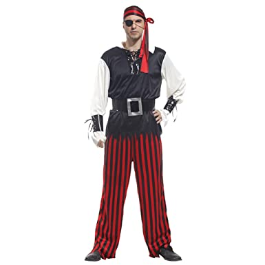 spooktacular mens carribean pirate cyclopia pirate costume set