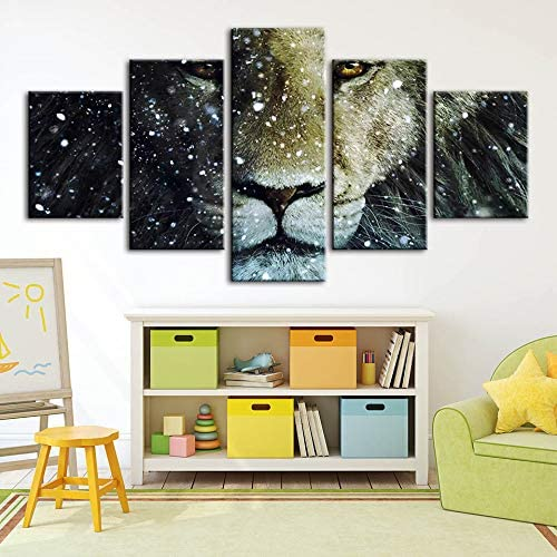 mmwin Cuadros modulares Canvas s Animal Lion Arte de la Pared ...