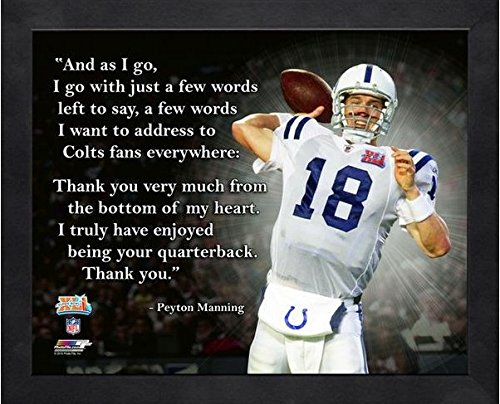 Peyton Manning Indianapolis Colts ProQuotes Photo (Size: 9