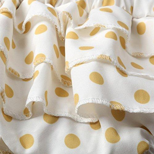 Mono Bebé, Amlaiworld Ropa recién nacida de los trajes del mono del Harem del halter de la impresión del Bebé 0-24 Mes Naranja