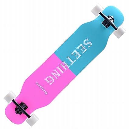 WEII Carretera patineta de Cuatro Ruedas Skateboard Street Street Tablet Hombres y Mujeres Tablero de Baile