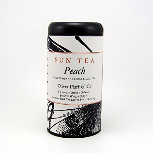 Sun Tea Peach, 3 One-Gallon Teabags in Decorative Tin ()