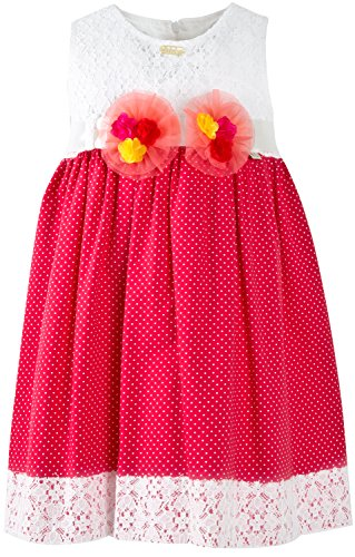 Lilax Little Girls' Polka Dot Dress With Lace Trim 5 - Thanksgiving Great Mall Hours