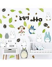 Baby Slaapkamer Anime Totoro 3D Muurstickers Verwijderbare Home Decor Kinderen Cartoon Kinderkamer Muur Stickers