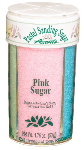Sugar Sanding Decorative - Dean Jacobs 4 Pastel Sanding Sugar Accents, Regular, 3.36-Ounce Jars (Pack of 4)