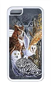 Find 11 Owls TPU Silicone Case Cover for iPhone 5C White wangjiang maoyi