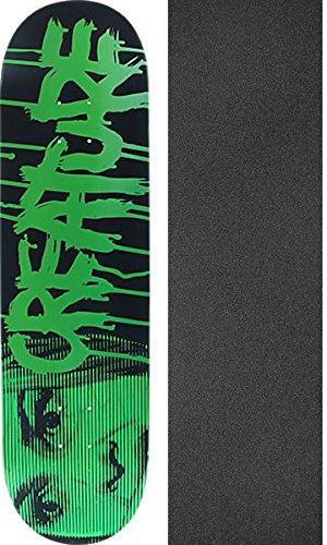 呼び起こす適度に出費Creature SkateboardsスケートボードデッキBloodブラック/グリーンMedium – 8.2