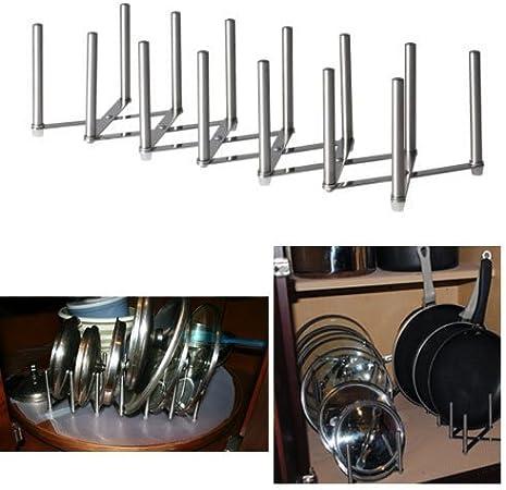 New Ikea Variera Pot Lid Organizer Stainless Steel Multi use