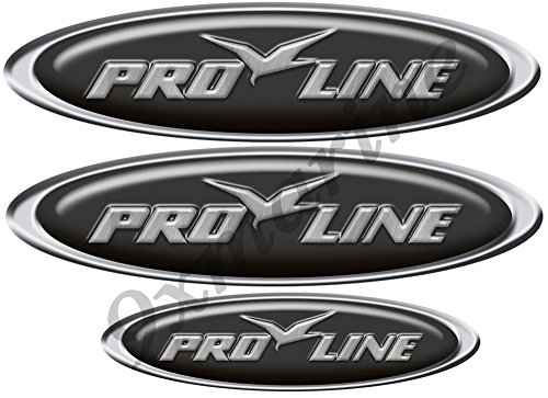 Pro line Custom Oval Decals/Stickers - 10 inch long set. Remastered