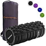 Foam Roller Massager for Trigger Point Therapy by SmarterLife - Massage Rollers for Sore Muscles, Pre and Post Workout, Exercise, Recovery, Yoga, Pilates, Cycling and Running
