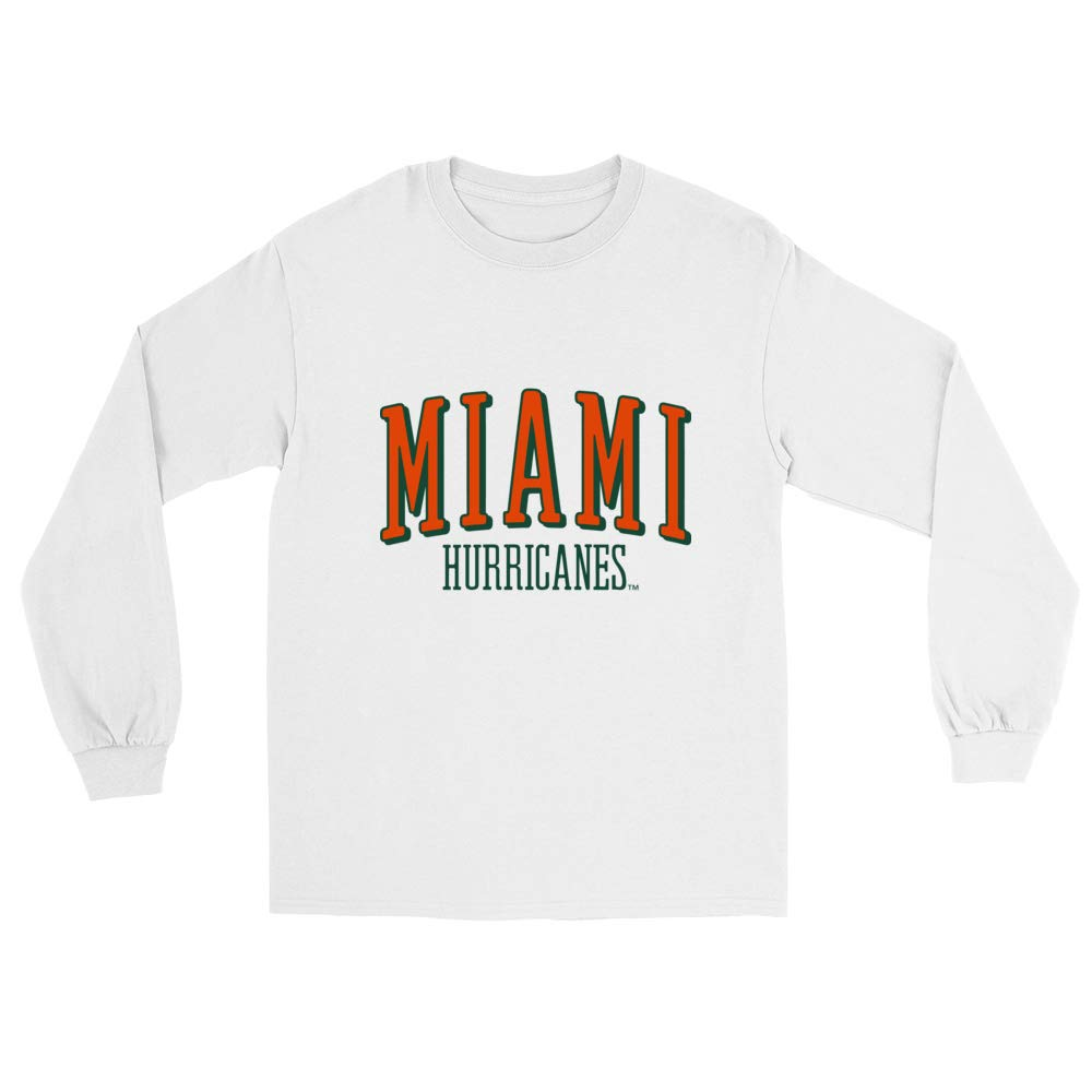 Official NCAA University of Miami Hurricanes RYLMIA07 Mens//Womens Boyfriend Long Sleeve Tee