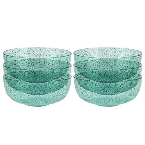 Zak Designs 2316-0320-ISET Spritz Plastic Bowls, Mint