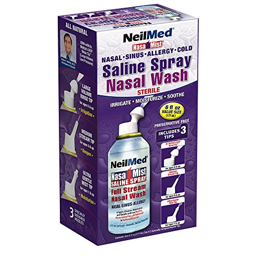 Sinus Saline Spray - Neil Med Nasa Mist Multi Purpose Saline Spray All in One, 6.0 ounces Unit