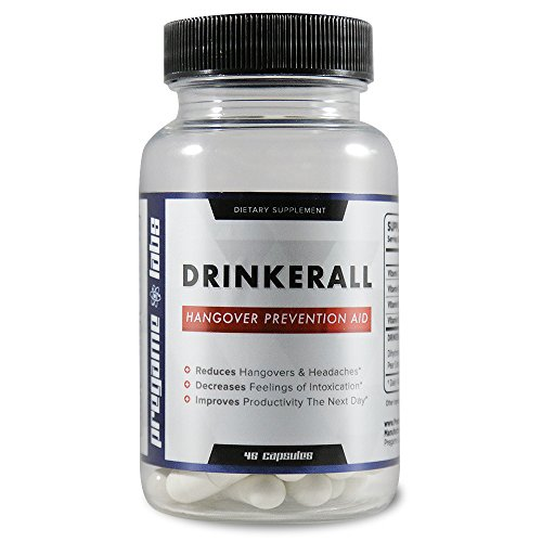 DRINKERALL - #1 Hangover Cure | Scientifically Proven Hangover Prevention Pills | With DHM, NAC, Prickly Pear, B-Vitamins | Guaranteed 80% Reduction - Anti-Hangover Remedy