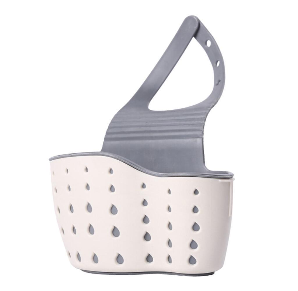 Subfamily - Cesta de drenaje para fregadero, con ventosa, estante para fregadero, jabón, estante de desagüe, herramienta de almacenamiento con ventosa Subfamily Dining & Bar