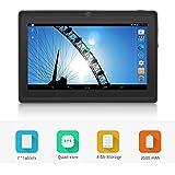 Yuntab Q88 7 inch Allwinner A33,1.5 Ghz Quad Core Google Android Tablet PC,512MB+8G,Dual Camera,WiFi,Mini USB,G-Sensor,Support SD/MMC/TF Card(Black)