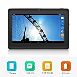 Yuntab Q88 7 Inch Allwinner A33,1.5 Ghz Quad Core Google Android Tablet PC,512MB+8G,Dual Camera,WiFi,Mini USB,G-Sensor,Support SD/MMC/TF Card(Black)