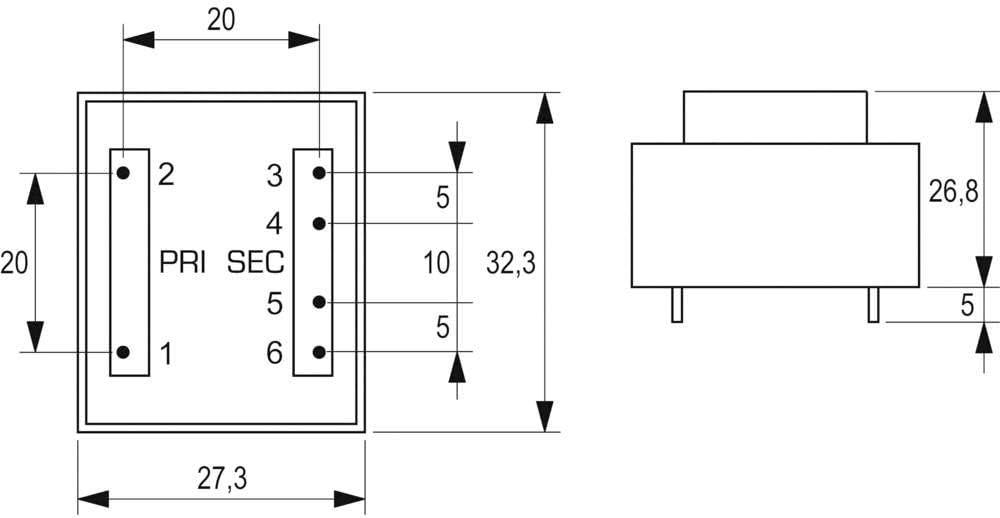 Block PRINTTRANSFORMATOR VB 0,35//1//12