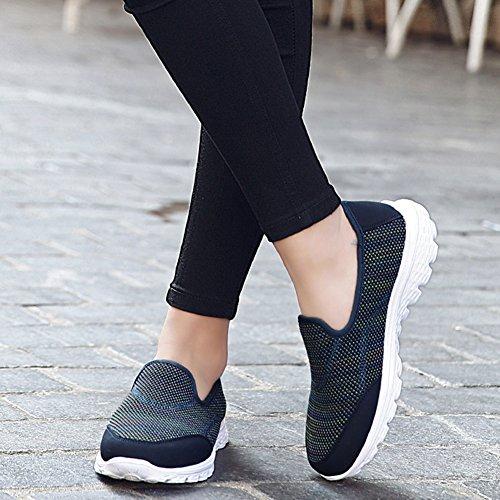 De Sneakers Casual Mocasines Tejiendo Wealsex Volando Moda Mujer Azul Zapatos Loafers Ez5wqZ0n