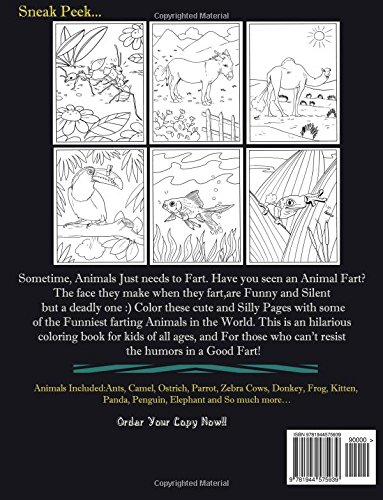 Farting Animals Coloring Book A Cute And Funny Coloring Book Diary