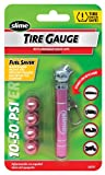 Slime 20171 Pink Mini Pencil Tire Gauge 10-50 PSI with Caps