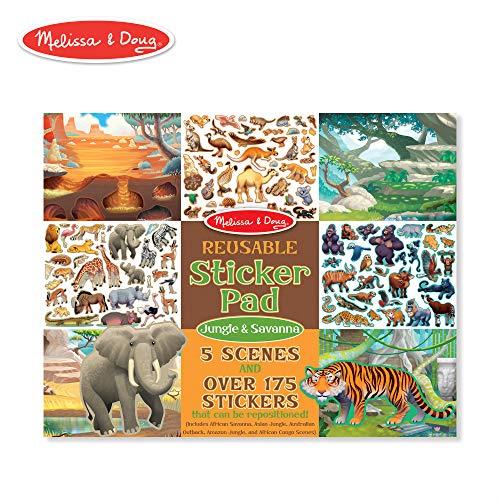 Melissa & Doug Reusable Sticker Activity Pad - Jungle & Savanna -