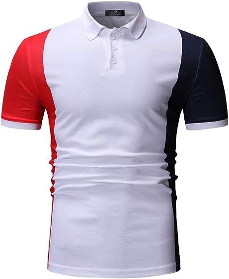 LuckyGirls Camisetas para Hombre Cuello con Botones Originales ...