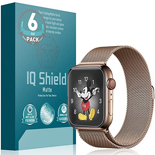 Apple Watch Series 4 Screen Protector (40mm)[Easy Install](6-Pack), IQ Shield Matte Anti-Glare Screen Protector for Apple Watch Series 4 (40mm) Bubble-Free Film
