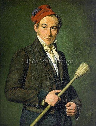 JENSEN CHRISTIAN ALBRECHT DANISH 1792 1870 3 ARTIST PAINTING OIL CANVAS REPRO 48x36inch by Elite-Paintings