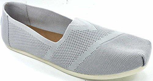 7c0e27a861f Galleon - TOMS Women s Classic Flat Slip-On Drizzle Grey Custom Knit 7.5