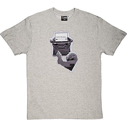 Shakespeare Monkey Melange Grey/Ash Men's T-Shirts