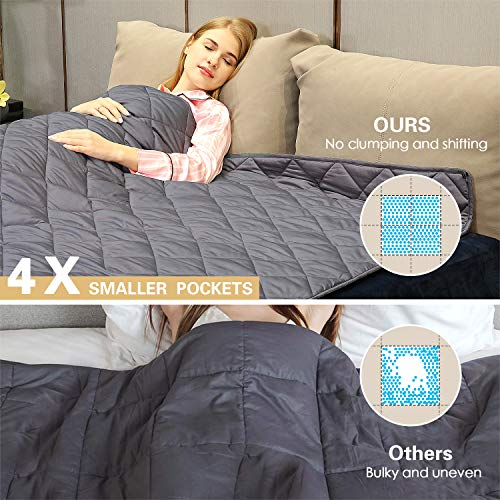 """Weighted Blanket Kids - 2019 Upgraded  Patented HugBeads   Cotton 48""""x72""""    Twin Size"""