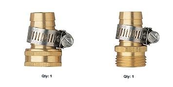 Orbit Male Female Thread Brass 3/4u0026quot; Water Hose Repair   Garden Hoses