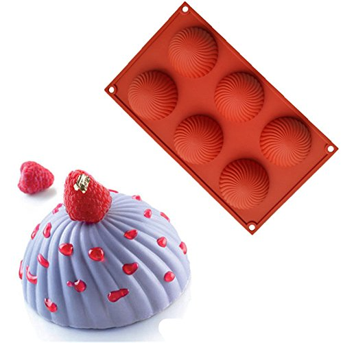 LDTE OFFICE Rotating Silicone Cake Hemisphere Chocolate Mold 3D Mould Mousse Moule Pastry Art Baking Pan Bakeware Dessert