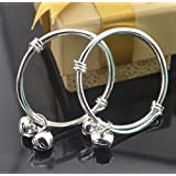 Fashion Silver baby bracelet kids anklet bangle 10pcs/lot Wholesale LS