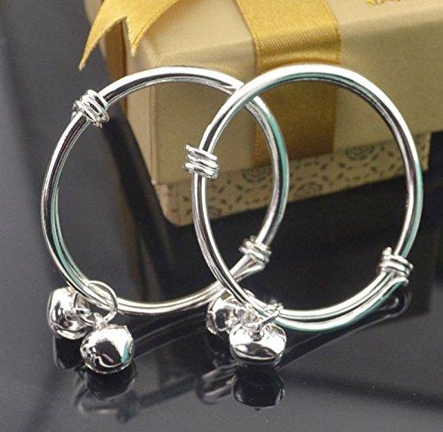 Fashion Silver baby bracelet kids anklet bangle 10pcs/lot Wholesale LS