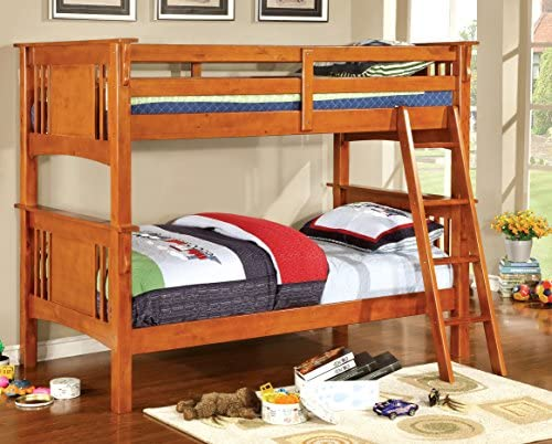 Furniture of America Concord Bunk Bed, Twin Full, White