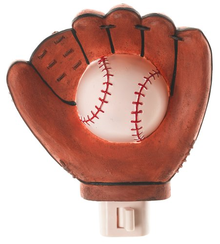 Baseball Glove Themed Nightlight Night Light Home Decor BOY Bedroom Sports Fan Childrens