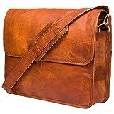 Urban Leather Handmade Leather Messenger Bag for Men Vintage Leather Shoulder Bag for Men Women