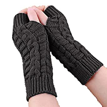 Gloves, Baomabao Knitted Arm Winter Gloves Unisex Soft